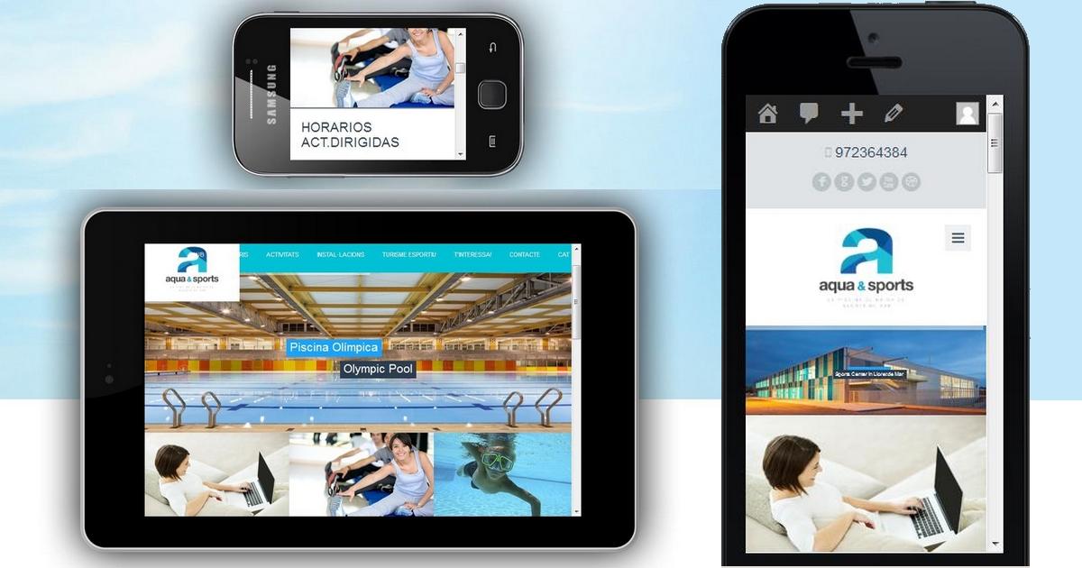 Web Responsive Aqua Sports Lloret